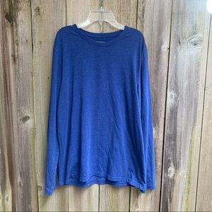 Blue Express Stretch Crew Long Sleeve Tee size L